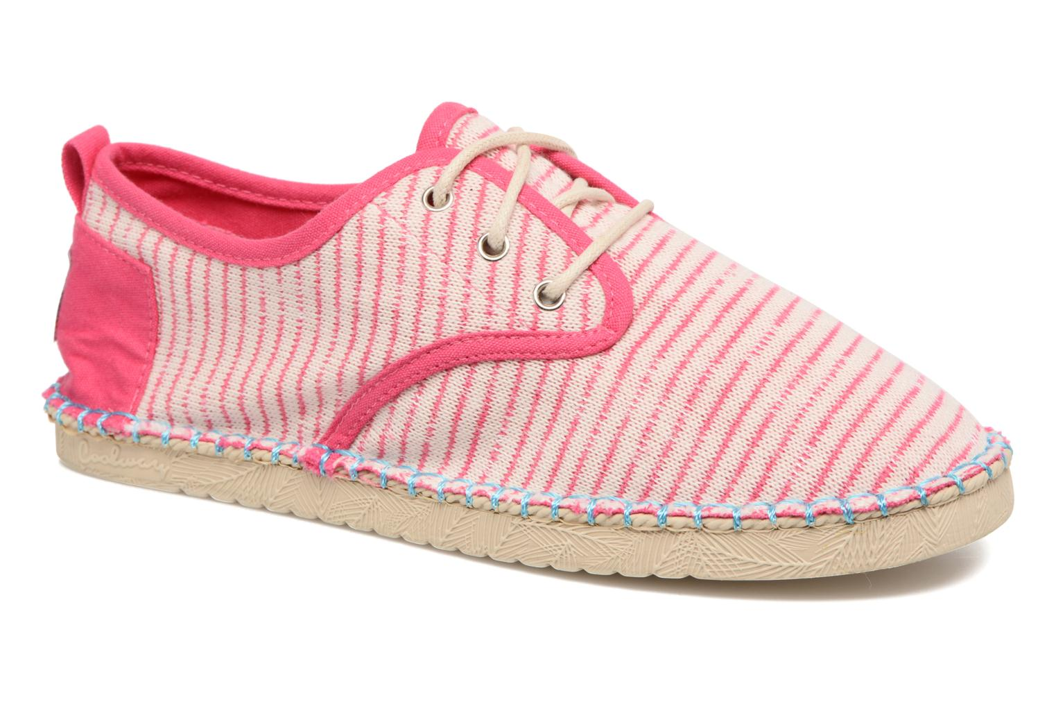 Lace-up shoes Coolway Trebol Pink detailed view/ Pair view