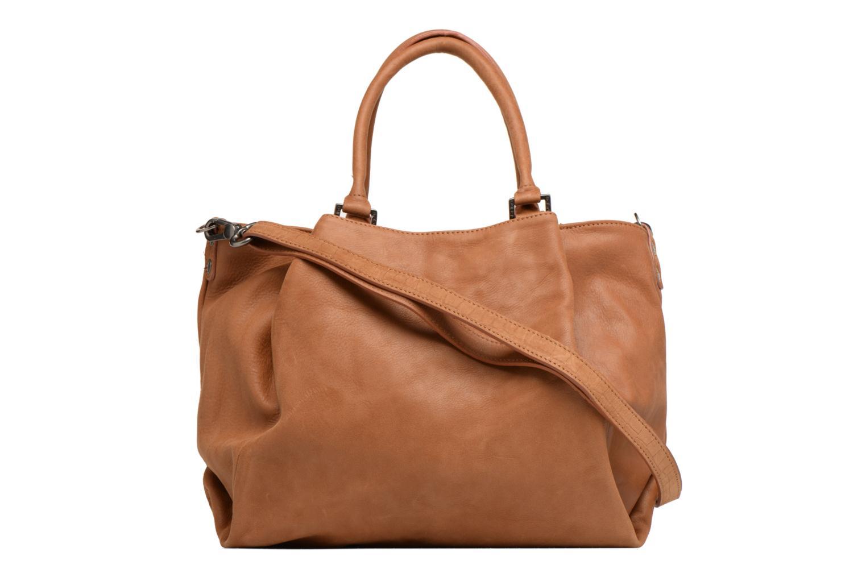 Handtaschen Sabrina Aliénor croco braun ansicht von vorne