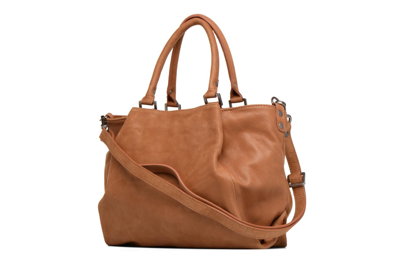 Handtaschen Sabrina Aliénor croco braun ansicht von rechts
