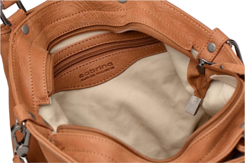 Handtaschen Sabrina Aliénor croco braun ansicht von hinten