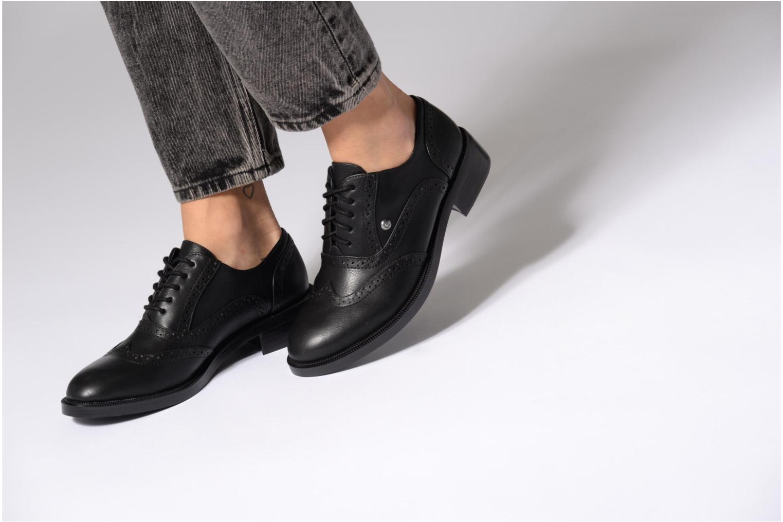 Zapatos con cordones Chattawak Joanne Negro vista de abajo