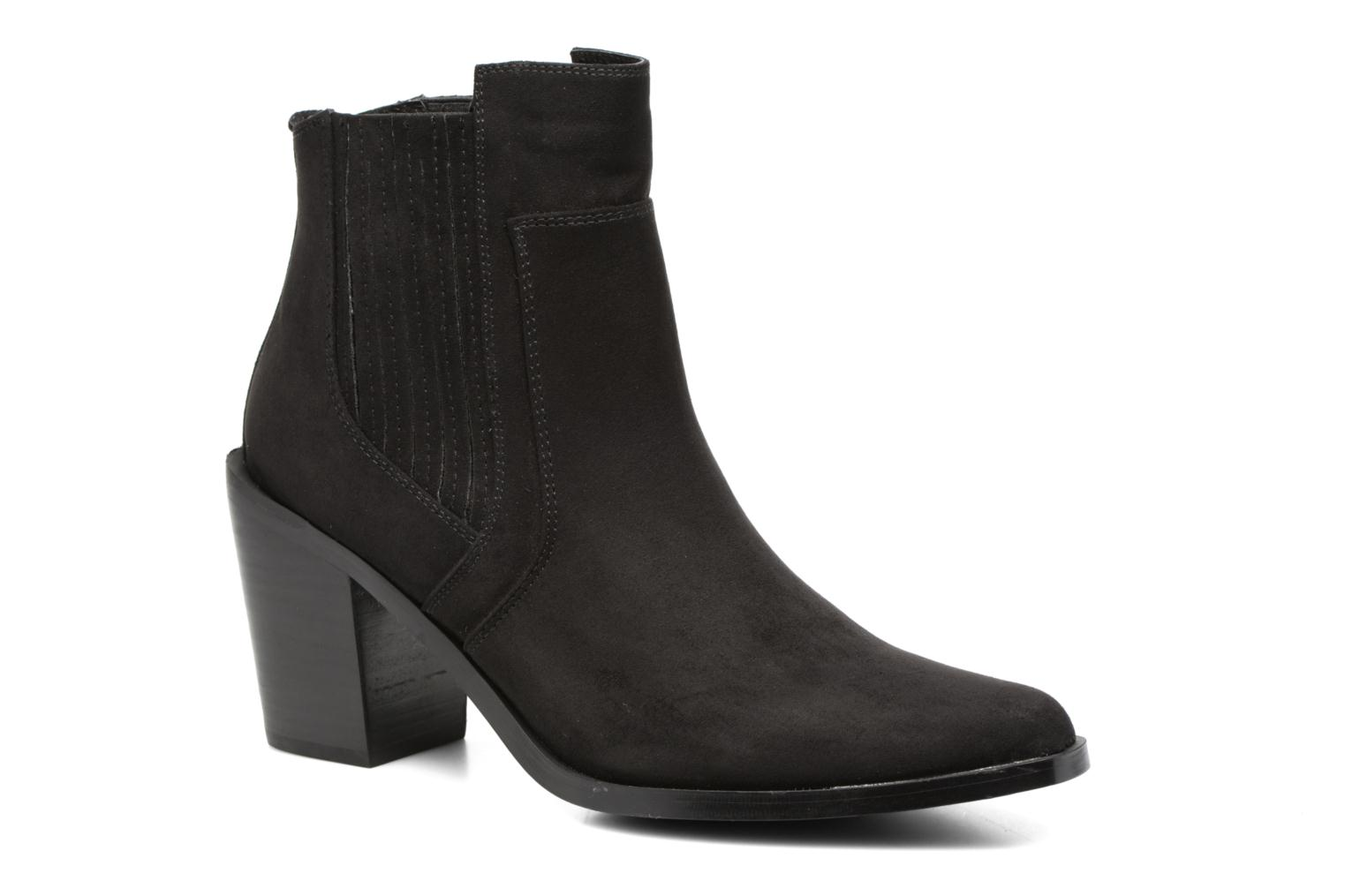 Ankle boots Chattawak Laurence Black detailed view/ Pair view