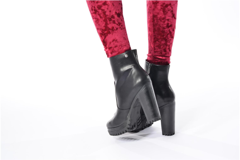 Bottines et boots Chattawak Manon Noir vue bas / vue portée sac