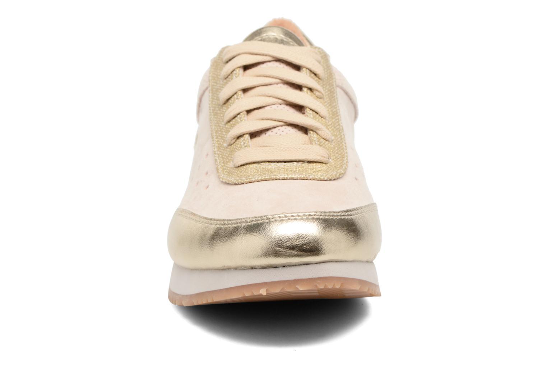Baskets Esprit Amu lou Beige vue portées chaussures