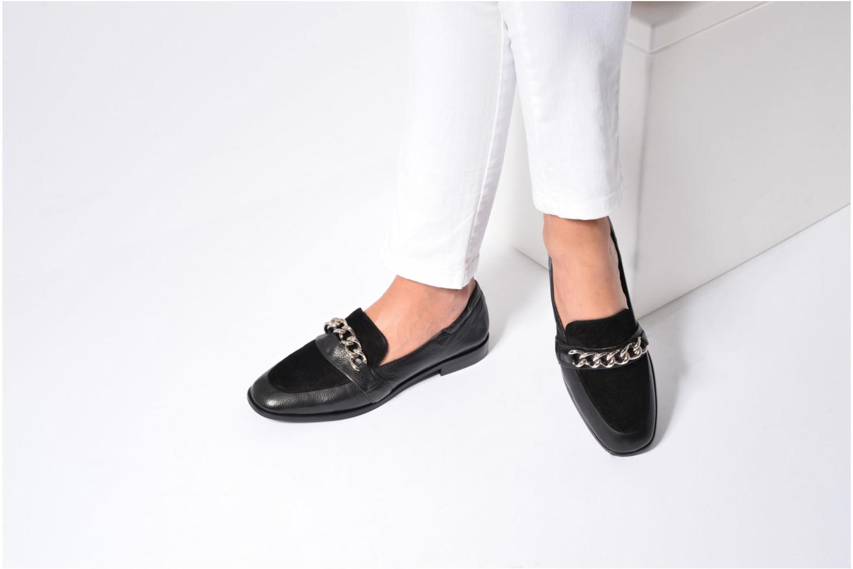Loafers Billi Bi Karen Black view from underneath / model view
