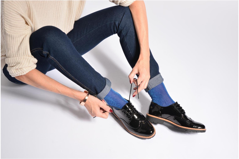 Schnürschuhe I Love Shoes FANELY blau ansicht von unten / tasche getragen