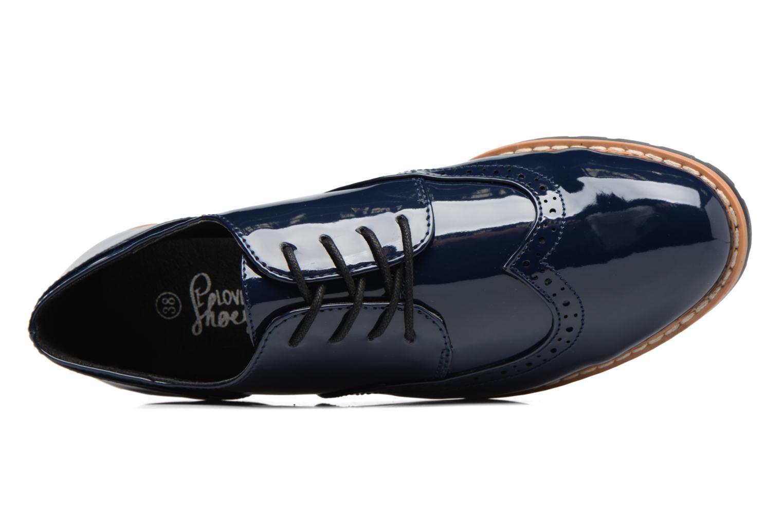 Schnürschuhe I Love Shoes FANELY blau ansicht von links