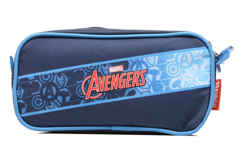 Scolaire Avengers Trousse double Bleu vue face