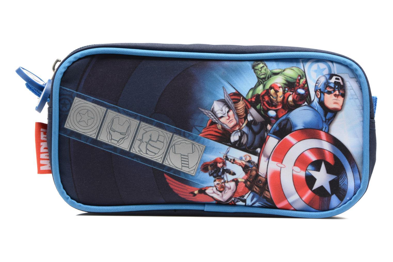 Scolaire Avengers Trousse double Bleu vue détail/paire