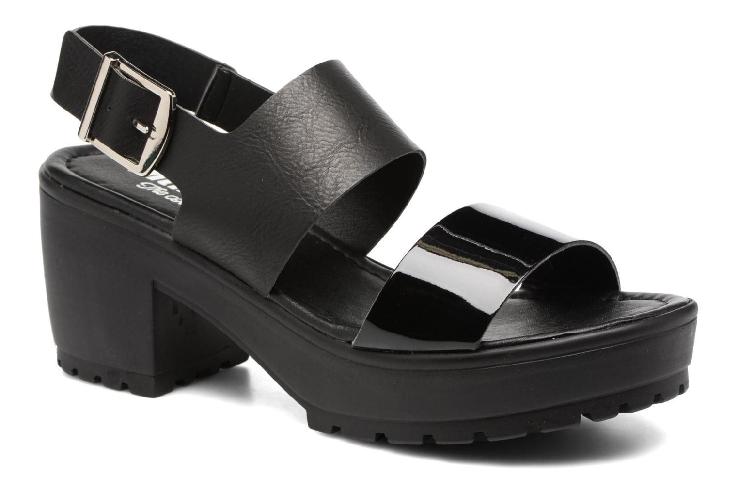 Sandals MTNG Charlot 50992 Black detailed view/ Pair view