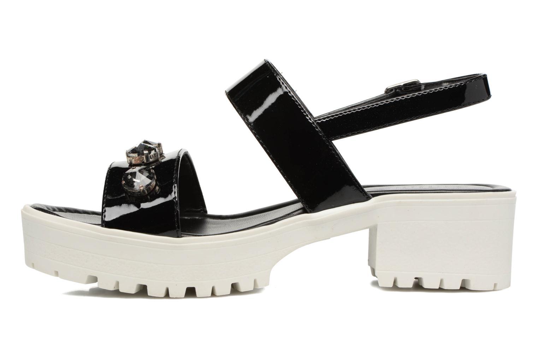 Sandales et nu-pieds MTNG Speck 51607 Noir vue face