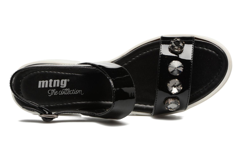 Sandalen MTNG Speck 51607 schwarz ansicht von links