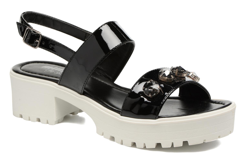 Sandales et nu-pieds MTNG Speck 51607 Noir vue détail/paire