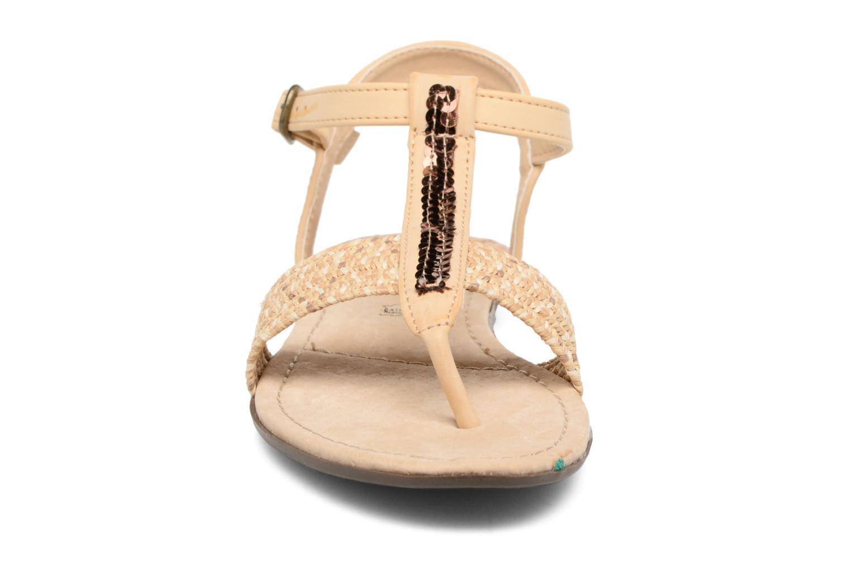 Sandales et nu-pieds MTNG Brush 53533 Beige vue portées chaussures