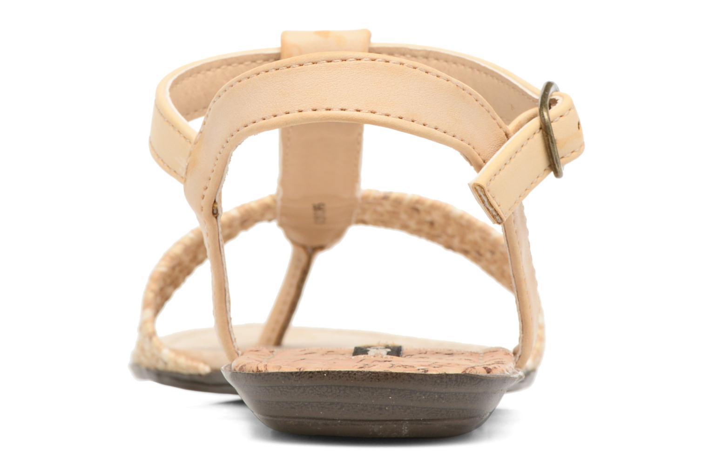 Sandales et nu-pieds MTNG Brush 53533 Beige vue droite