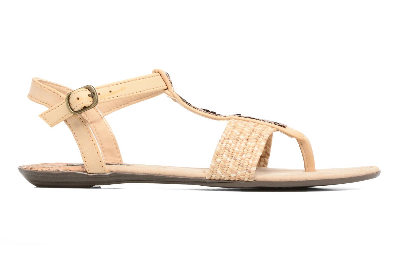 Sandales et nu-pieds MTNG Brush 53533 Beige vue derrière