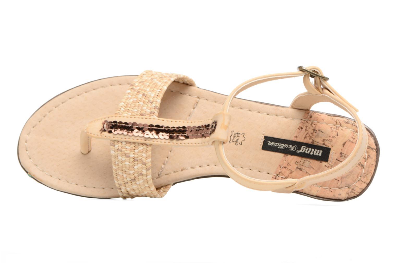 Sandales et nu-pieds MTNG Brush 53533 Beige vue gauche