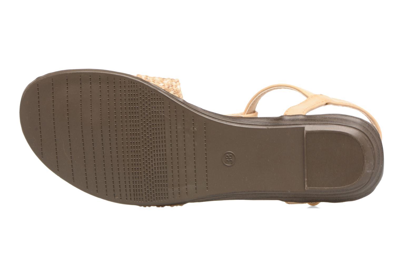 Sandales et nu-pieds MTNG Brush 53533 Beige vue haut
