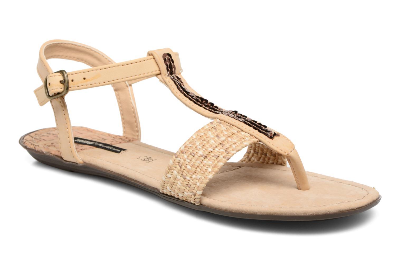 Sandales et nu-pieds MTNG Brush 53533 Beige vue détail/paire