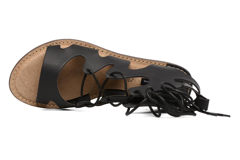 Sandales et nu-pieds MTNG Space 53674 Noir vue gauche