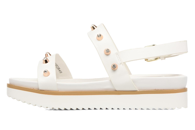 Sandales et nu-pieds MTNG Clou 53937 Blanc vue face