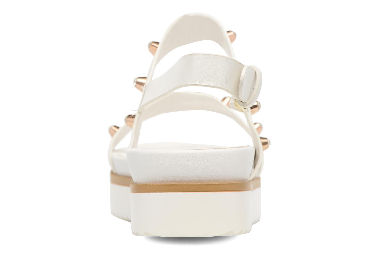 Sandales et nu-pieds MTNG Clou 53937 Blanc vue droite