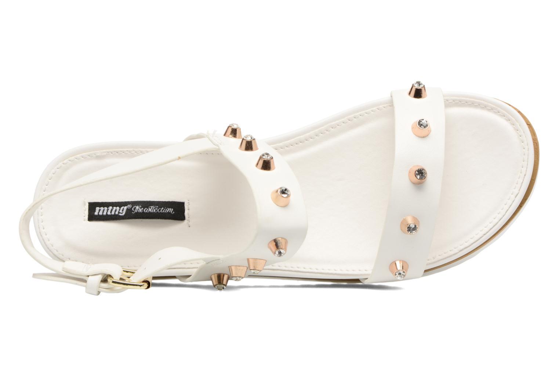 Sandales et nu-pieds MTNG Clou 53937 Blanc vue gauche