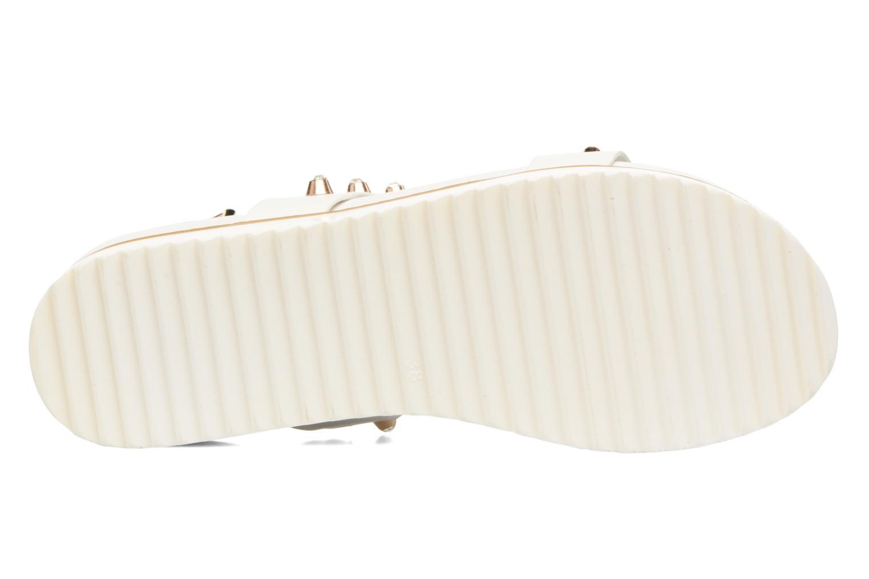 Sandales et nu-pieds MTNG Clou 53937 Blanc vue haut