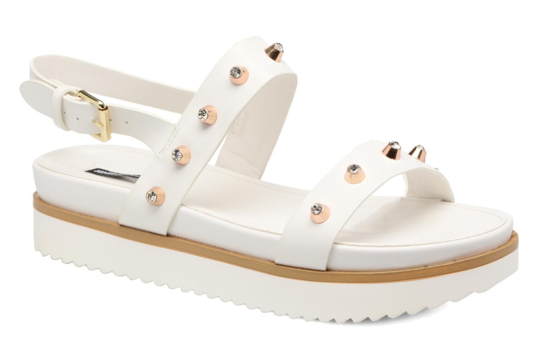 Sandales et nu-pieds MTNG Clou 53937 Blanc vue détail/paire