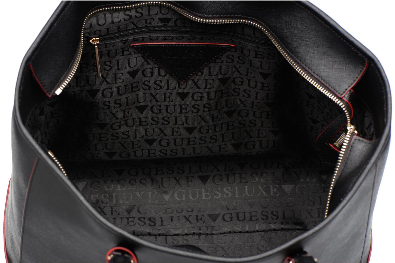Sacs à main Guess Cabas Saffiano Lady Luxe Noir vue derrière