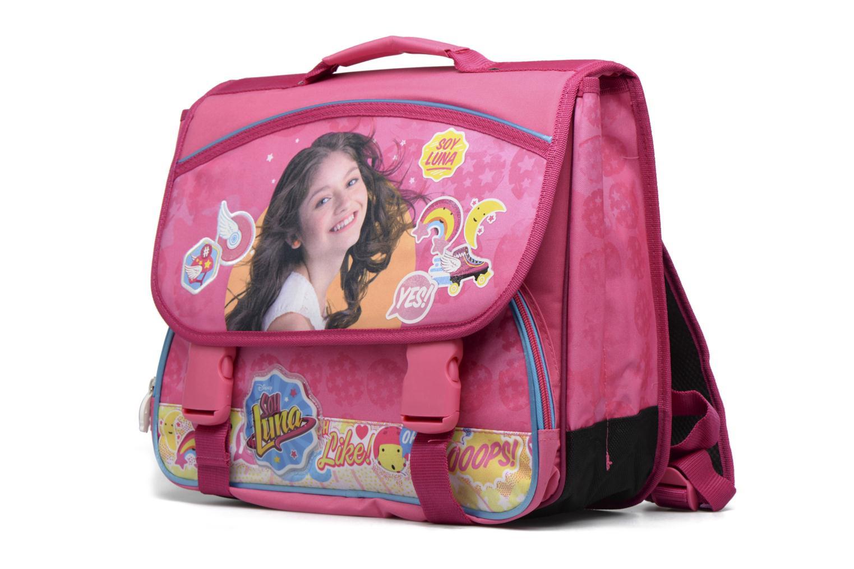 Per la scuola Soy Luna Cartable 38cm Rosa modello indossato