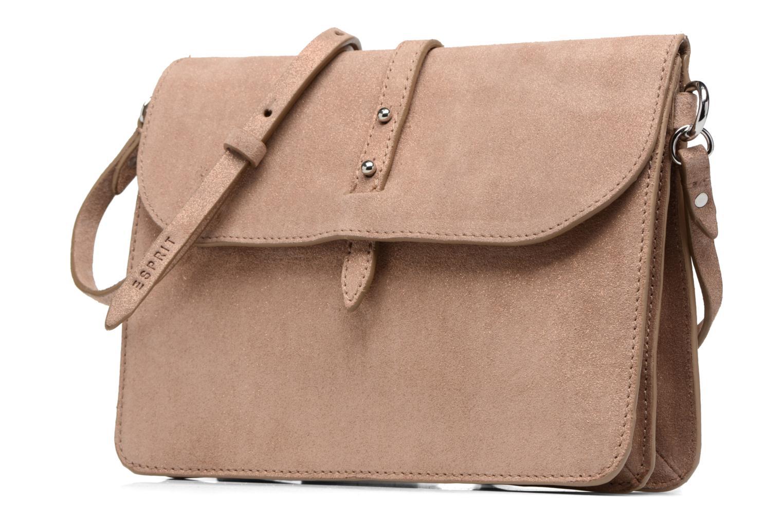 Sacs à main Esprit Thelma FL Shoulder Leather bag Marron vue portées chaussures