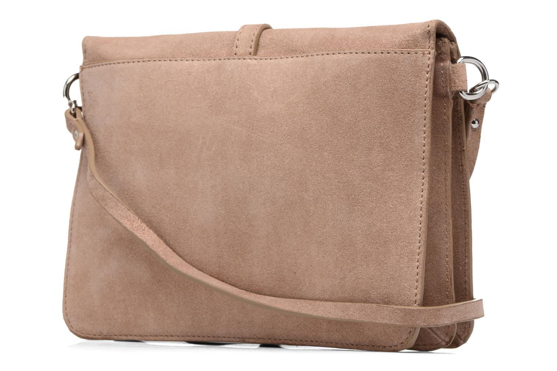 Sacs à main Esprit Thelma FL Shoulder Leather bag Marron vue droite