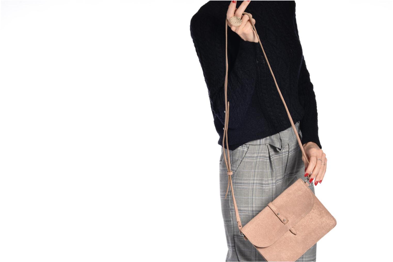 Sacs à main Esprit Thelma FL Shoulder Leather bag Marron vue haut