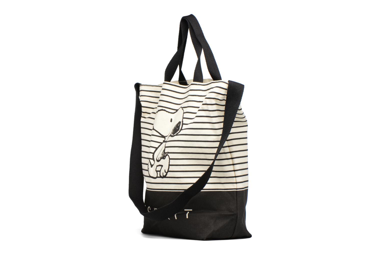 Snoopy Canvas Shopper Black