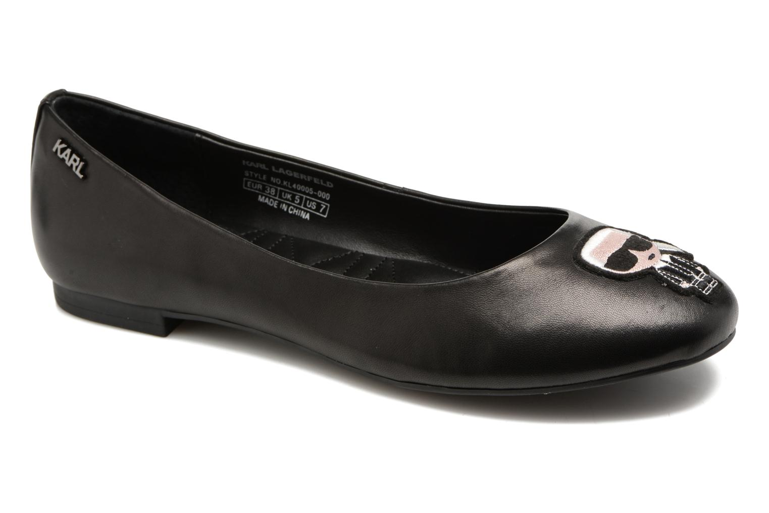 Ballet pumps Karl Lagerfeld Klara Ikonic Ballet Pump Black detailed view/ Pair view