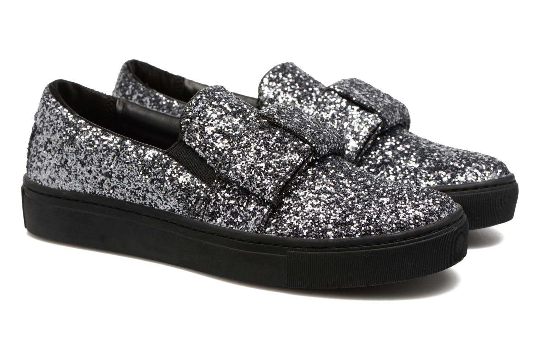 Gris Black Lagerfeld Bow Mono On Kupsole Slip Glitter Karl qUfw8U