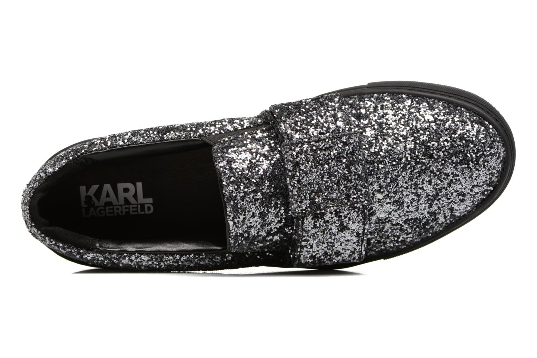 Kupsole Bow Slip On Black Glitter Mono