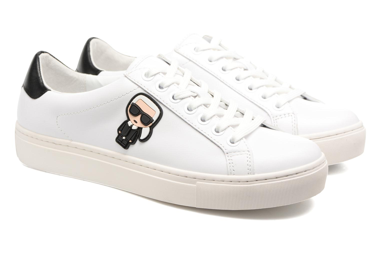 Sneakers Karl Lagerfeld Kupsole Karl Ikonik Lo Lace Vit 3/4 bild