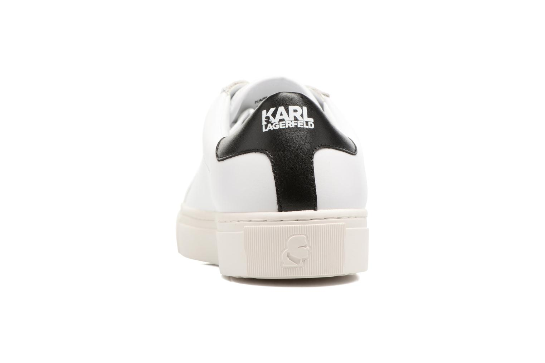 Deportivas Karl Lagerfeld Kupsole Karl Ikonik Lo Lace Blanco vista lateral derecha