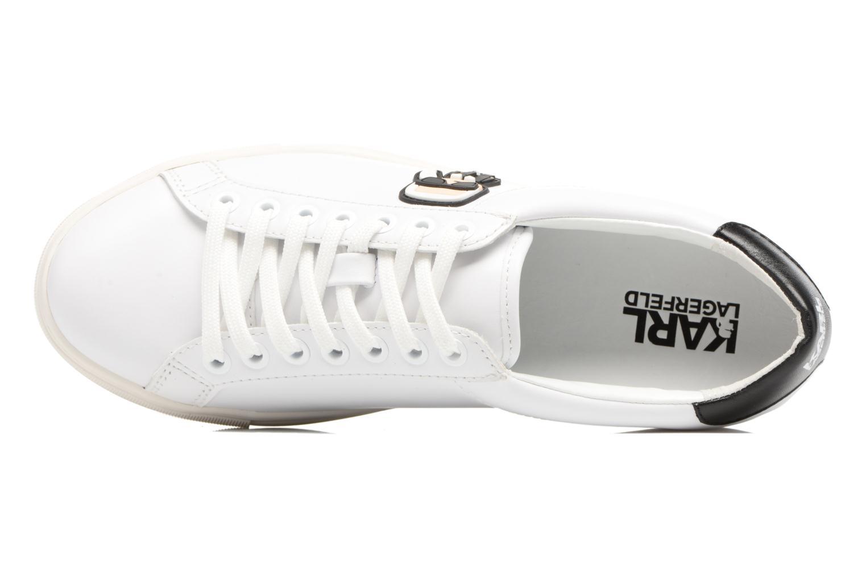 Sneakers Karl Lagerfeld Kupsole Karl Ikonik Lo Lace Vit bild från vänster sidan