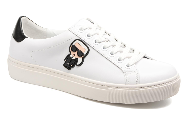 Sneakers Karl Lagerfeld Kupsole Karl Ikonik Lo Lace Vit detaljerad bild på paret