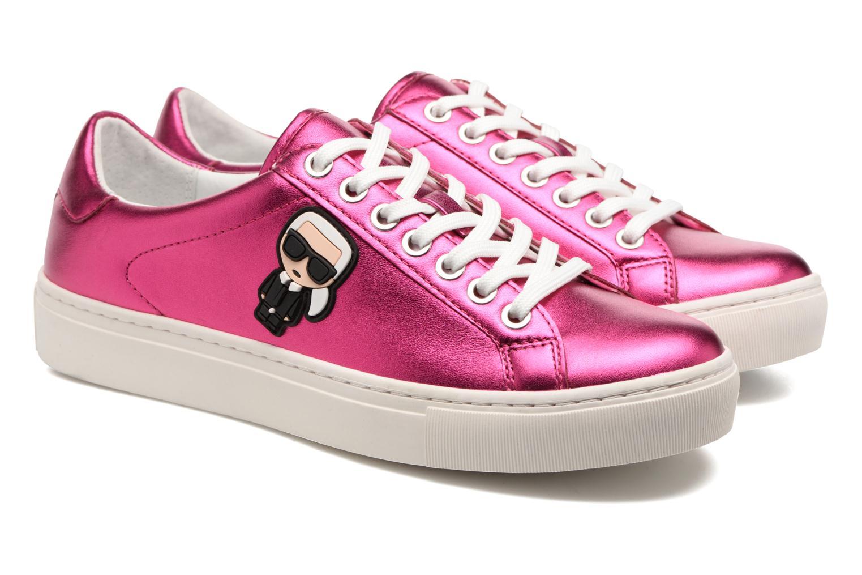 Trainers Karl Lagerfeld Kupsole Karl Ikonik Lo Lace Pink 3/4 view