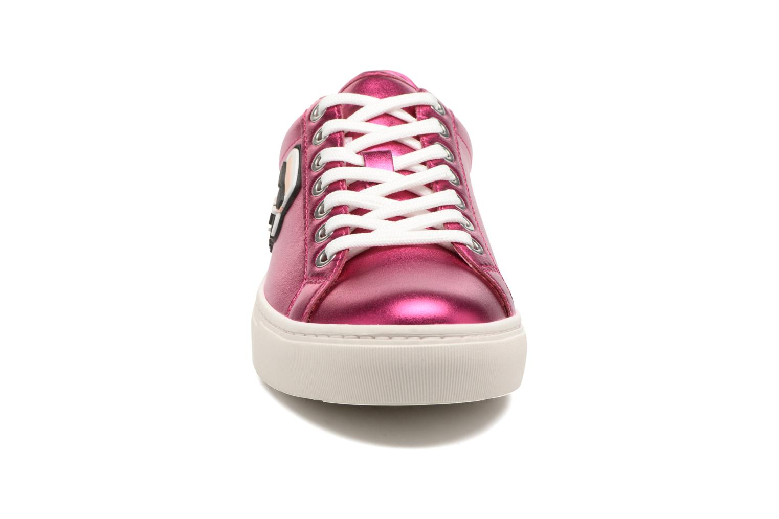 Baskets Karl Lagerfeld Kupsole Karl Ikonik Lo Lace Rose vue portées chaussures