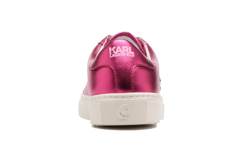Sneakers Karl Lagerfeld Kupsole Karl Ikonik Lo Lace Rosa Bild från höger sidan