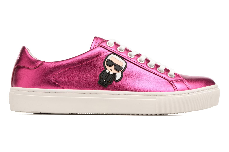 Sneaker Karl Lagerfeld Kupsole Karl Ikonik Lo Lace rosa ansicht von hinten