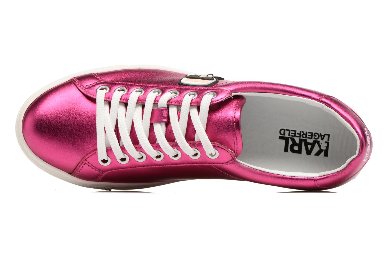 Sneaker Karl Lagerfeld Kupsole Karl Ikonik Lo Lace rosa ansicht von links