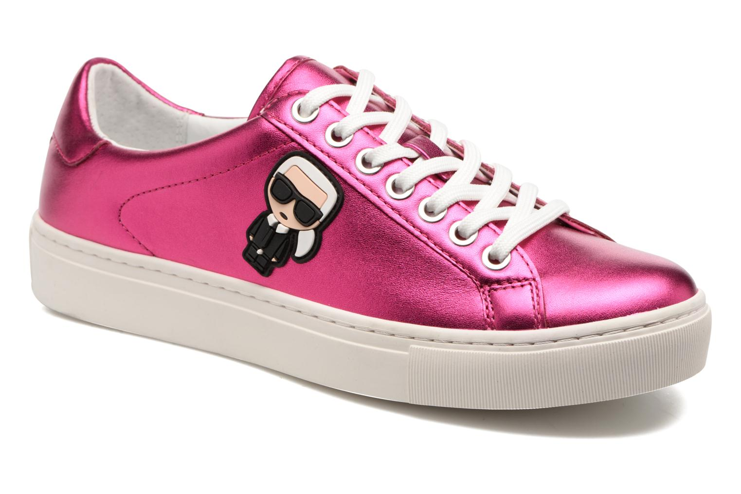 Baskets Karl Lagerfeld Kupsole Karl Ikonik Lo Lace Rose vue détail/paire
