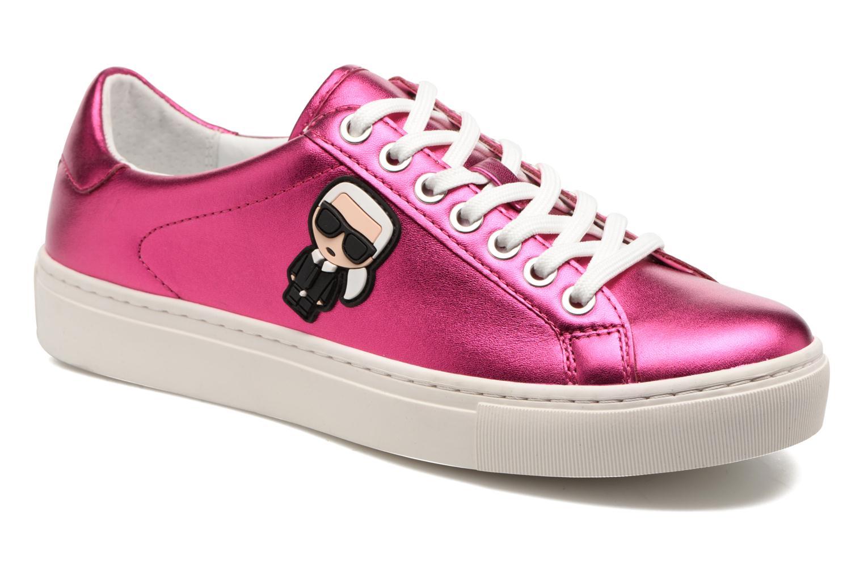 Sneakers Karl Lagerfeld Kupsole Karl Ikonik Lo Lace Rosa detaljerad bild på paret
