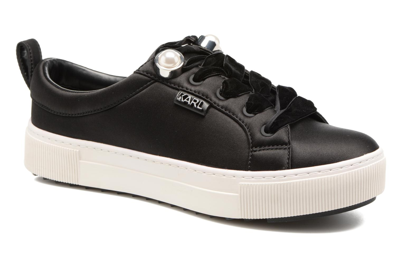 Luxor Kup Lace Shoe Black Satin